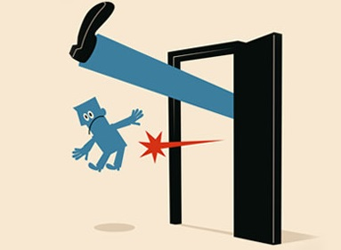 Image result for kicked out the door cartoon moving